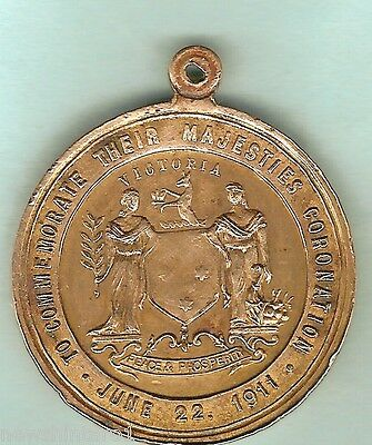 1911 Victoria George V  Coronation Medal, Cleaned