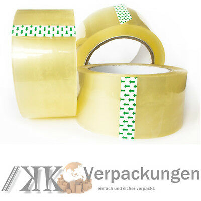 36 x LOW NOISE Klebeband 50 mm x 66 m akryl** LEISE PP Packband tape transparent