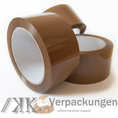 36 x LEISE Klebeband 50 mm x 66 m LOW NOISE akryl* PP Packband tape film braun