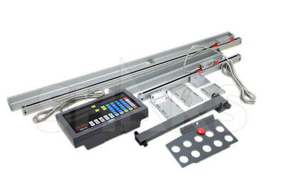 "SHARS 12""x24"" 2 Axis Dro digital readout glass linear Mill System Package NEW"