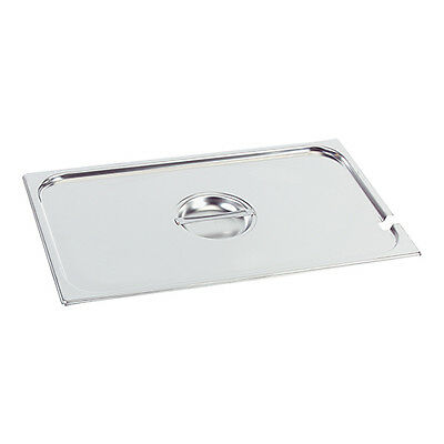 Bain Marie Lid  Cover Tray Anti Jam Steam Pans 1/2 Size 18/10 Stainless Steel