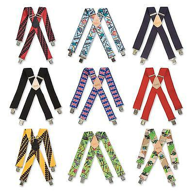 Brimarc Mens Heavy Duty Metal Clip Wide Work Trouser Braces 22 Assorted Patterns