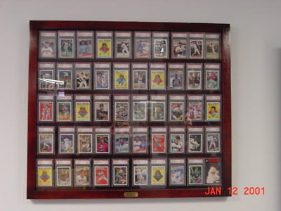 Card Display Cased for 50 Graded Baseball Cards