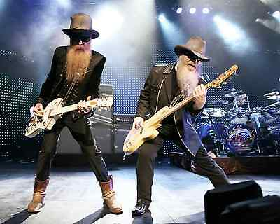 Zz Top Rock Band In Concert Music 8X10 Glossy Color Photo