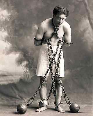 "Harry ""handcuff"" Houdini Stunt Performer Magician 8X10 Glossy Photo"