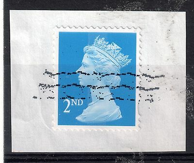 GB = Unusual Cancel on modern stamp - TRIAL ? Cancel. (6) (B1a)