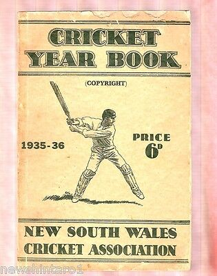 Nsw Cricket Year Book - 1935-36