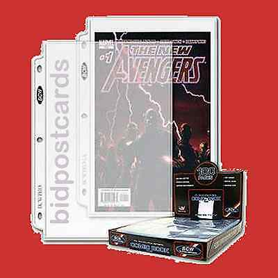 100 BCW 1-Pocket Current & Silver Comic Pro Archival Display Pages Sheets Holder