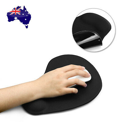 AU Gel Soft Mouse Pad With Wrist Rest Support Mat Color for Gaming PC Laptop Mac