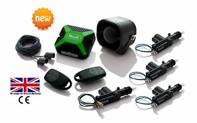 Car Alarms Central Lock + Immobiliser +Dual Ultrasonic +4 Door Central Lock Kit