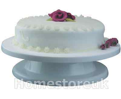 Cake Turn Table Rotating Icing Revolving Display Stand Turnable Plastic 1283