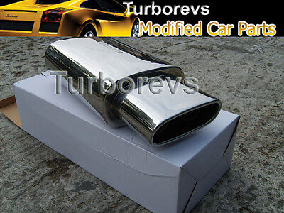 Vw Polo Golf Passat Stainless Steel Sports Universal Exhaust Back Box 006-Vw