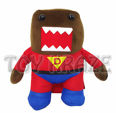 "Super Man Domo Kun Hero! Brown Large With Cape Plush Doll Figure Anime 13"" Nwt"