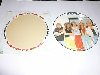 DEF LEPPARD - Interview Picture Disc - UK Baktabak label interview LP