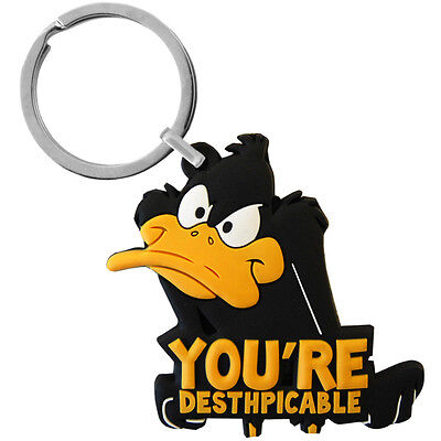 Daffy Duck Despicable PVC Keyring - Retro Funky Gift For Him Her