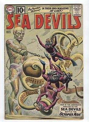 Sea Devils #1 DC Silver Age 1961, 1st issue, Russ Heath cover and art, Nice copy