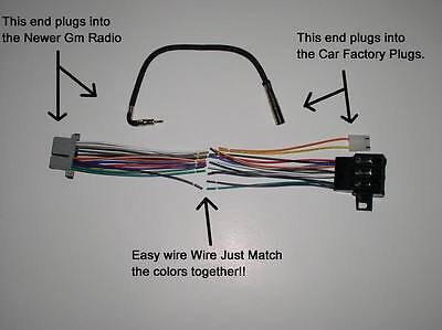 Delco 16140051 Radio Wiring Harness Adapter New To Old Factory Radio Stereo