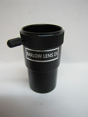 "Telescope Eyepiece Economy 2X Shorty Barlow 1-1/4 Inch 1.25"" - New!"