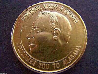 Governor Albert P. Brewer Gold Aluminum Medallion