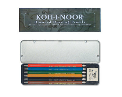 Fallbleistifte Set in Metallbox - KOH-I-NOOR Versatil 5217 mit Farbminen 2mm