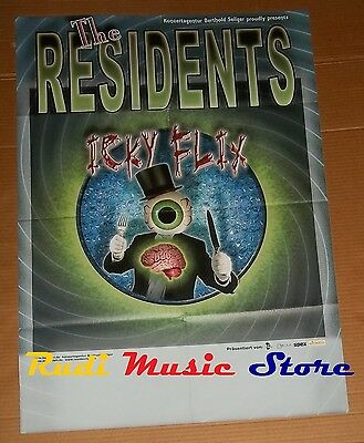 POSTER rock PROMO THE RESIDENTS ICKY FLIX 84 X 59,5 cm cd dvd vhs lp live mc
