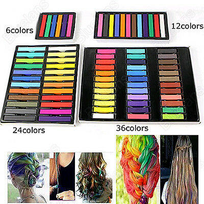 Easy Temporary Fast Colors Hair Chalk Dye Soft Hair Pastels Kit Non-Toxic Diy