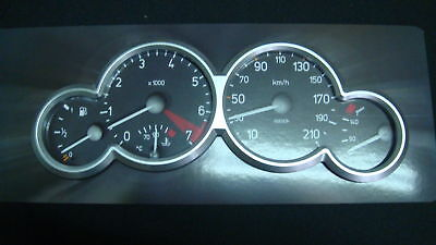 Chrome Dash Gauge Rings Dial Meter Cluster Instrument Fits PEUGEOT 206 206cc