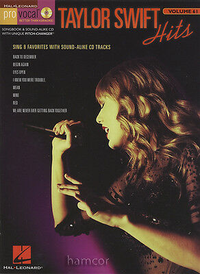 Taylor Swift Hits Pro Vocal Vol 61 Music Book/CD (Better than Karaoke)