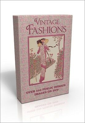 Vintage Fashions inc Art Deco - 500 public domain pics on DVD inc George Barbier