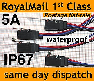 Waterproof Micro switch IP67 5A WS2 changeover SPDT Microswitch 200mm leads