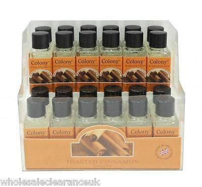 Joblot Of 48 Colony Toasted Cinnamon Scented Refresher Oils 9Ml Ch0044 Wholesale