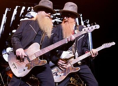 Zz Top Rock Band Group In Concert Music 8X10 Glossy Color Photo