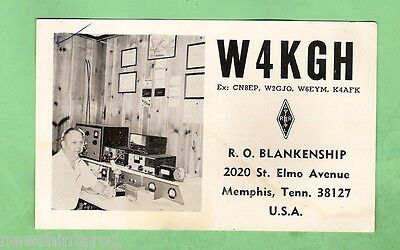 #d32. Qsl Card - 1979 Radio Contact Card - W4Kgh, Memphis, Tennessee Usa