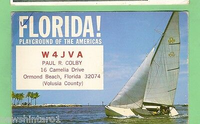 #d32. Qsl Card - 1970  Radio Contact Card - W4Jva, Ormond Beach, Florida, Usa