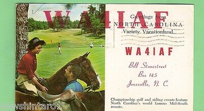 #d32. Qsl Card - 1966  Radio Contact Card - Wa4Iaf, Jonesville, Nth Carolina Usa