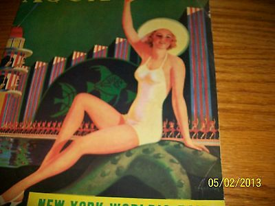 Antique 1940 New York Worlds Fair Billy Rose's Aquacade with cigarette adds