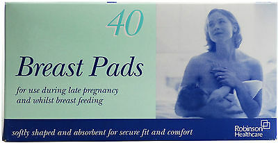 Robinson Shaped Breast Pads - 40 Pieces