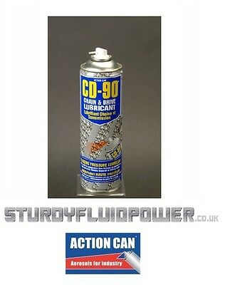 CD-90 (Action Can) 500ml  Aerosol - FOOD GRADE - Chain and Drive Lubricant