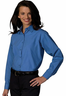 Edwards Garment Women's Long Sleeve Broadcloth Button Down Dress Shirt. 5363