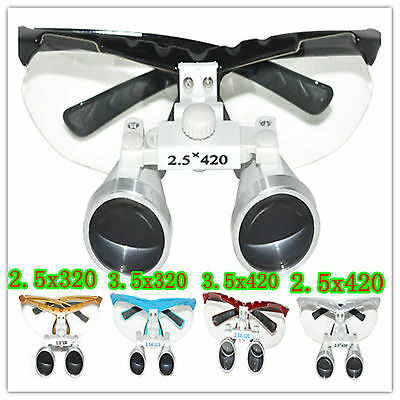 Dental Binocular loupes 3.5x320  2.5x320 2.5x420 3.5x420 / LED head light lamp