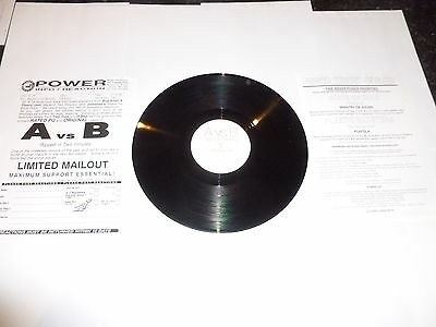 "A Vs B - Ripped in 2 minutes - Orginal Mix - Promotional-only 12"" Vingle SIngle"