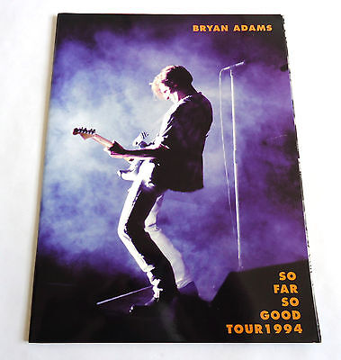 BRYAN ADAMS So Far So Good Tour 1994 JAPAN CONCERT PROGRAM BOOK
