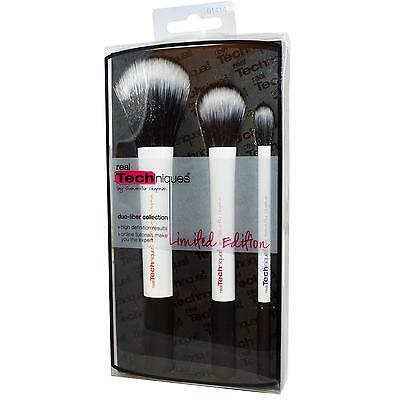 Lot 3 Pinceaux Maquillage Professionnel Duo Fiber Pinceau Brush Real Techniques