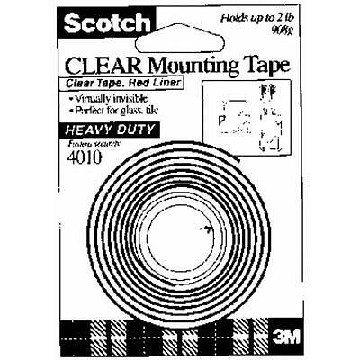 """24 Pk 3M 1"""" X 60"""" Scotch Clear Double-Sided Mounting Tape Holds Up To 2 lb 410DC"""