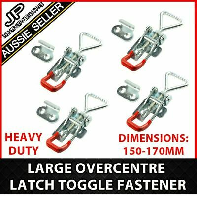 x4 LARGE ZINC FINISH TOGGLE LATCH OVER CENTRE FASTNER TOOL BOX,CAMPER TRAILER