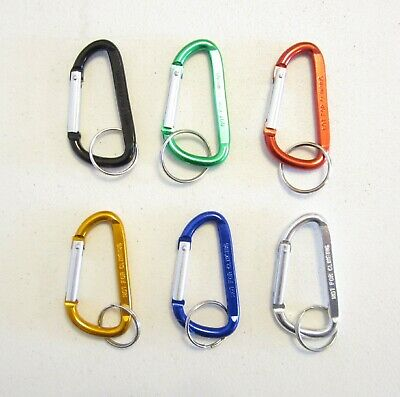 "2 Carabiner Spring Clip 3"" Keychain  Backpack Key Ring Chain Belt Hook Clip"