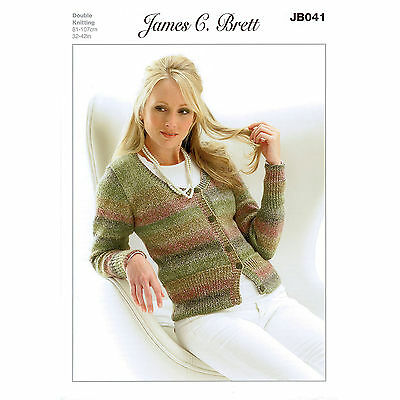 dfedf8e83 JAMES C. BRETT JB356 Knitting Pattern Baby Cardigan   Slipover in ...