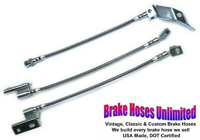FRONT BRAKE HOSES Mercury Park Lane 1967 Early before date 10-14-66 Front Disc