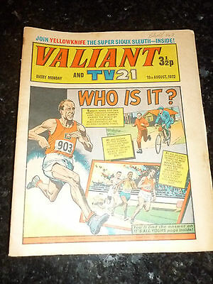 "VALIANT & TV21 Comic - Date 19/08/1972 - Inc ""STAR TREK"" Adventure - UK Comic"