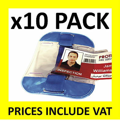 10 x ARMBAND SECURITY ID CARD BADGE HOLDER SIA DOOR SUPERVISOR SITE IDENTITY